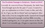 the knottiest passage in scripture death at birth13