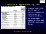 carfilzomib approved in july 2012