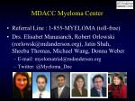 mdacc myeloma center
