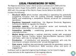 legal framework of nerc