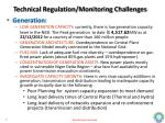 technical regulation monitoring challenges