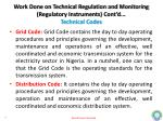 work done on technical regulation and monitoring regulatory instruments cont d technical codes