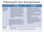 preparing for your scoring session