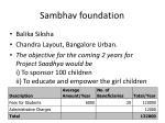 sambhav foundation