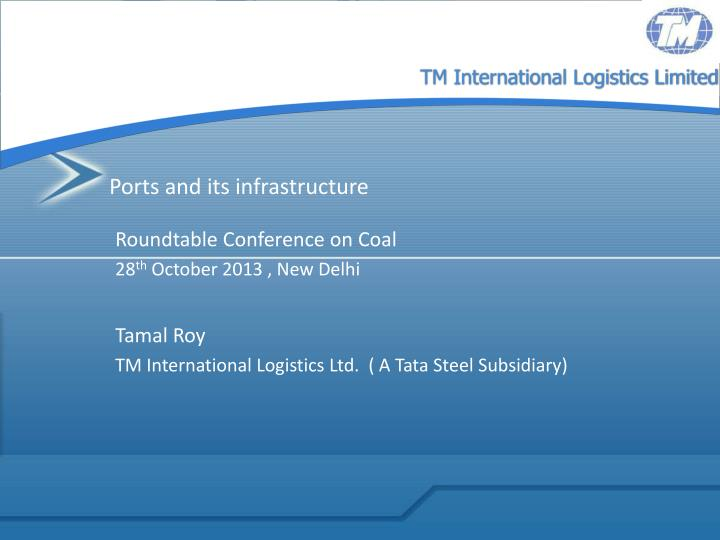 ports and its infrastructure n.