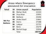 areas where emergency announced for evacuation1