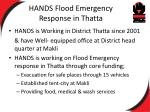 hands flood emergency response in thatta