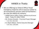 hands in thatta