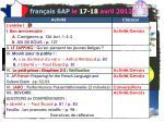 fran ais 6ap le 17 18 avril 20121