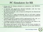 pc simulators for rr1
