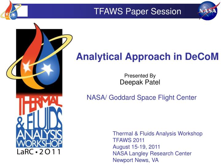 analytical approach in decom n.