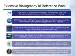extensive bibliography of reference work