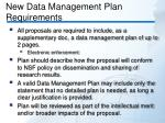 new data management plan requirements