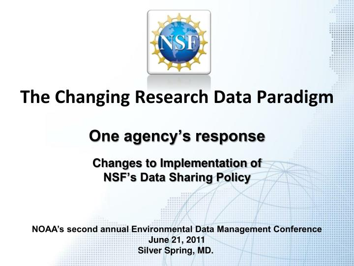 the changing research data paradigm n.