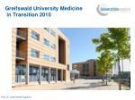 greifswald university medicine in transition 2010
