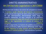 diritto amministrativo art 54 decreto legislativo n 267 2000