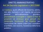 diritto amministrativo art 54 decreto legislativo n 267 20001
