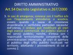 diritto amministrativo art 54 decreto legislativo n 267 20002
