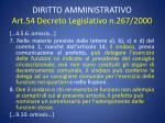 diritto amministrativo art 54 decreto legislativo n 267 20003