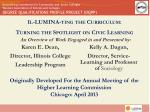 il lumina ting the curriculum turning the spotlight on civic learning