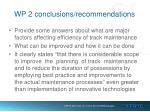 wp 2 conclusions recommendations