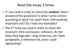 read the essay 3 times
