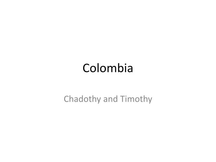 colombia n.