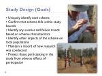study design goals