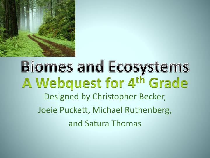 biomes and ecosystems n.