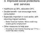 3 improved social protections and services
