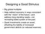 designing a good stimulus