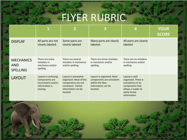 FLYER RUBRIC