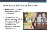 inheritance influences behavior