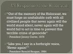 us response to the holocaust