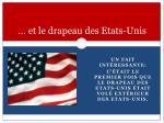 et le drapeau des etats unis