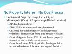 no property interest no due process