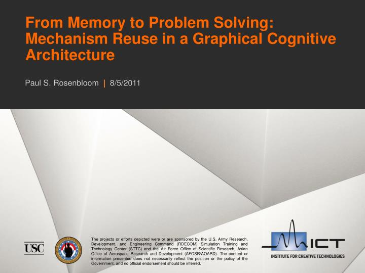 from memory to problem solving mechanism reuse in a graphical cognitive architecture n.