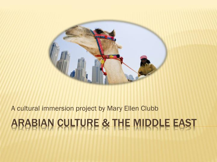 a cultural immersion project by mary ellen clubb n.