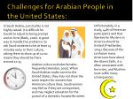 challenges for arabian people in the united states