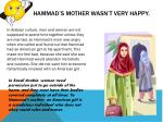 hammad s mother wasn t very happy