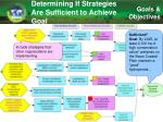 determining if strategies are sufficient to achieve goal4