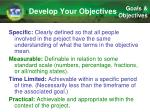 develop your objectives1