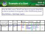 example of a goal
