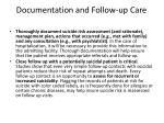 documentation and follow up care