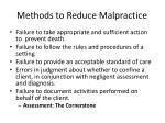 methods to reduce malpractice