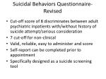 suicidal behaviors questionnaire revised