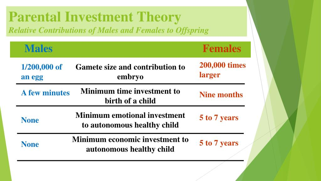 Investment theory parental Tool Module: