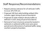 staff response recommendations