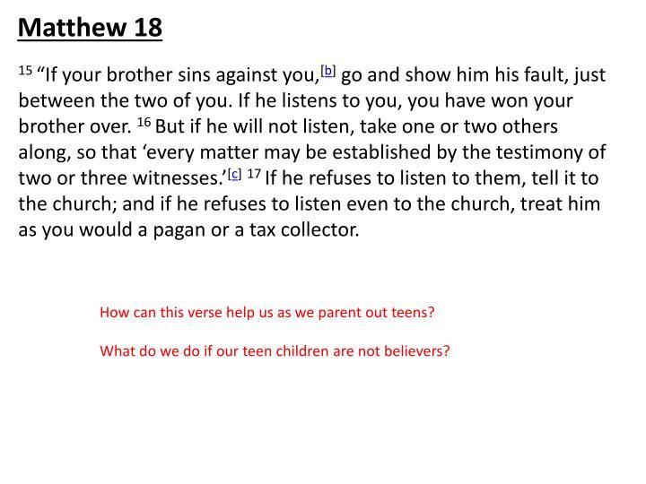 Matthew 18
