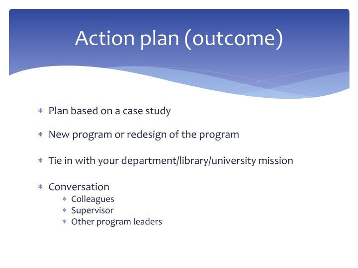 case study action plan